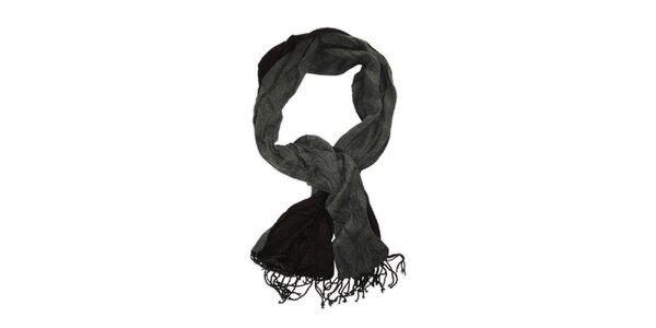 Pánsky čiernošedý šál so strapcami Sublevel