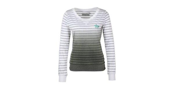 Dámsky svetr so šedými prúžkami Fresh Made