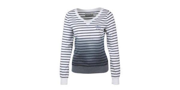 Dámsky sveter s tmavo modrými prúžkami Fresh Made