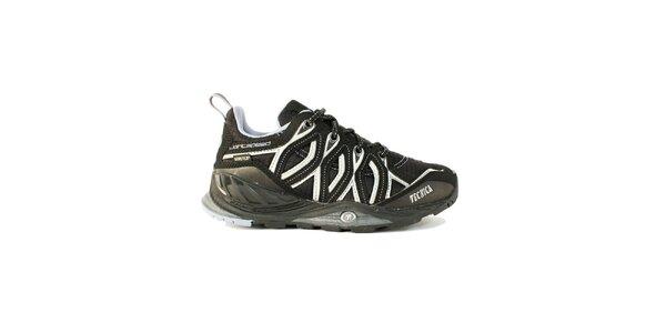 Dámske nízke čiernobiele trekové topánky Tecnica