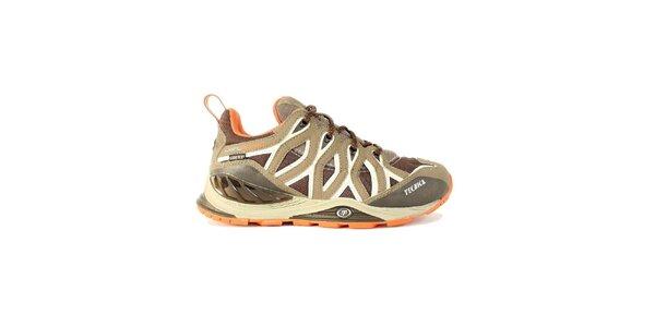 Dámske nízke béžovo-oranžovo-biele trekové topánky Tecnica