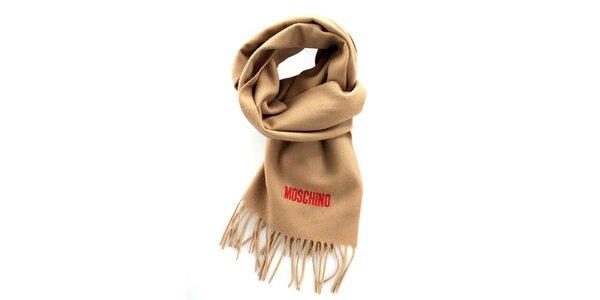 Ťaví šál so strapcami Moschino