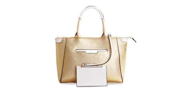 Dámska kožená kabelka v zlatej farbe Belle & Bloom