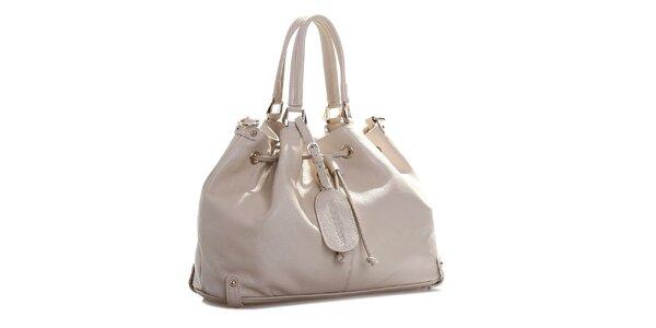 Dámska krémovo biela kožená kabelka Belle & Bloom