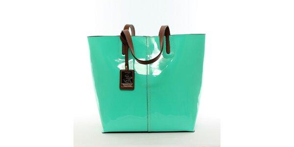 Dámska žiarivo zelená kabelka s vynímateľným vreckom Beverly Hills Polo Club