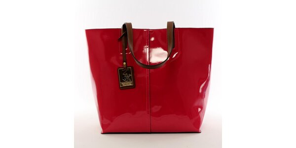 Dámska žiarivo červená kabelka s vynímateľným vreckom Beverly Hills Polo Club