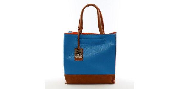 Dámska modrá kabelka s visačkou Beverly Hills Polo Club