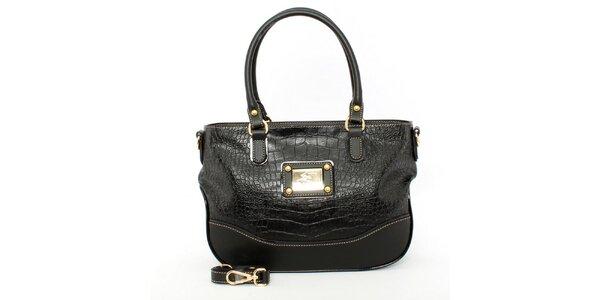 Dámska čierna kabelka s odnímateľným popruhom Beverly Hills Polo Club