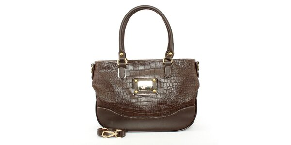 Dámska hnedá kabelka s odnímateľným popruhom Beverly Hills Polo Club