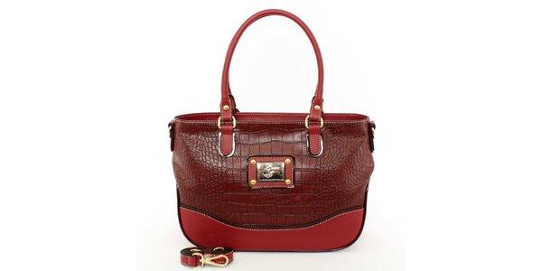 Dámska červená kabelka s odnímateľným popruhom Beverly Hills Polo Club