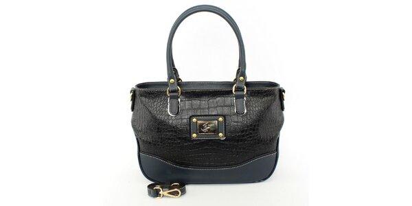 Dámska čierno-modrá kabelka s odnímateľným popruhom Beverly Hills Polo Club