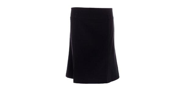 Dámska čierna sukňa po kolená 2two