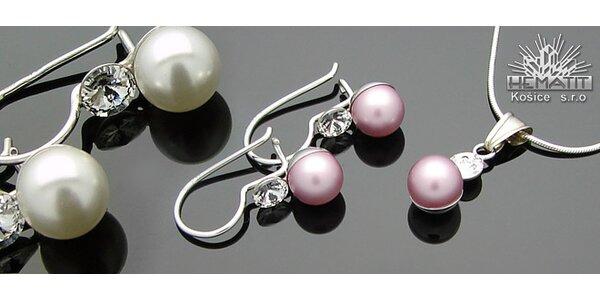 Luxusná súpravu šperkov s perlou CRYSTALLIZED™ - Swarovski Elements
