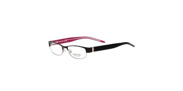 Dámske okuliare s čiernymi stranicami Replay