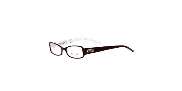 Dámske hnedé oválne okuliare Replay