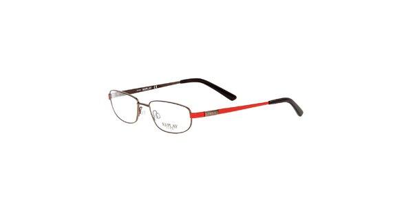 Pánske okuliare s červenými stranicami Replay