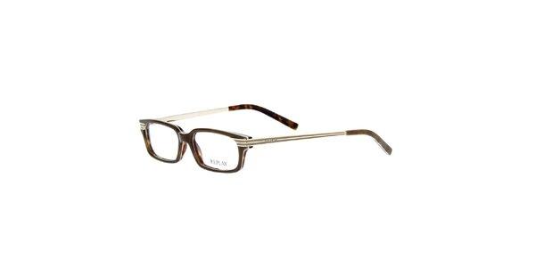 Pánske okuliare s hnedým žíhaním Replay