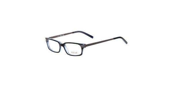Pánske modročierne hranaté okuliare Replay