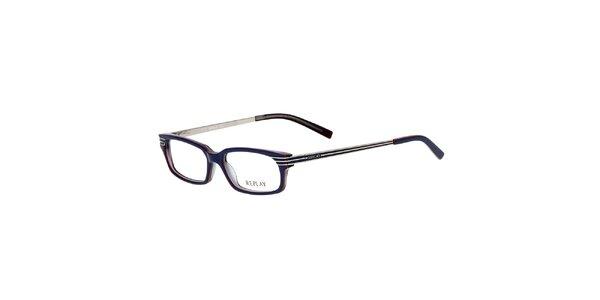 Pánske modré hranaté okuliare Replay