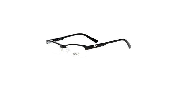Dámske čierne viazané okuliare Replay