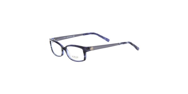 Dámske modré žíhané okuliare Replay