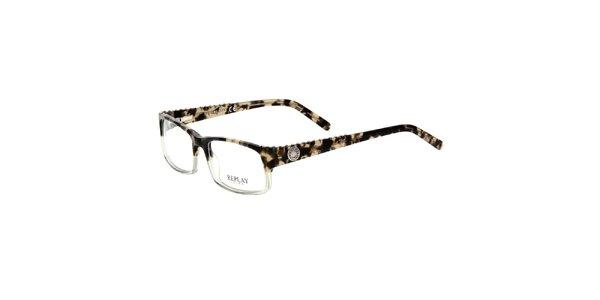 Pánske okuliare s kovovými cvokmi Replay