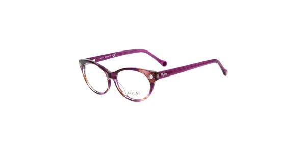 Dámske fuchsiové žíhané okuliare Replay
