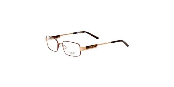 Pánske zlatohnedé okuliare Replay