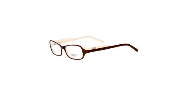 Dámske krémovohnedé okuliare Replay