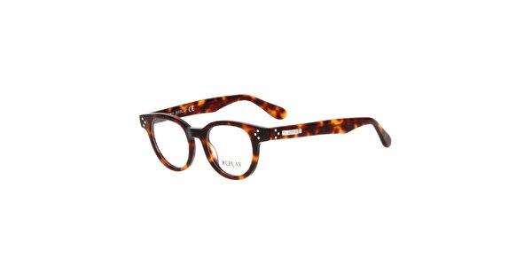 Pánske hnedo žíhané okuliare Replay