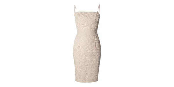 Dámske ružové čipkované šaty Fever