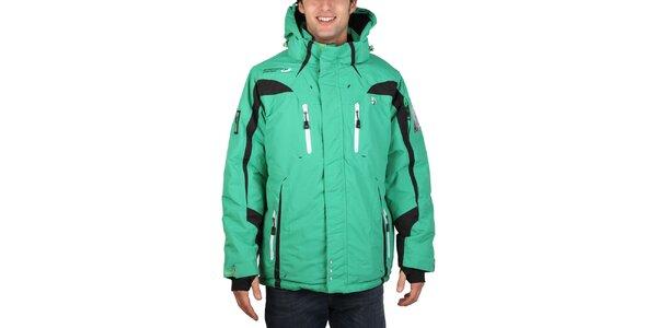 Pánska lyžiarska zelená bunda Geographical Norway