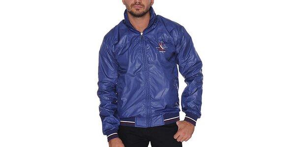 Pánska modrá bunda s kapucňou Giorgio di Mare