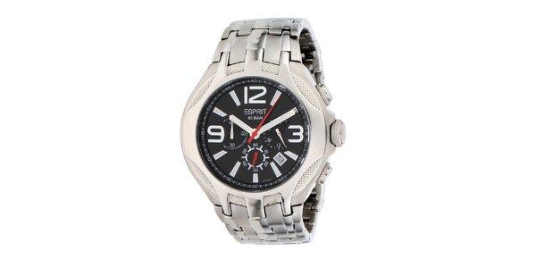Pánske hodinky v striebornej farbe Esprit