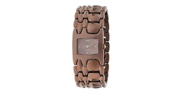 Dámske hnedé náramkové hodinky Esprit