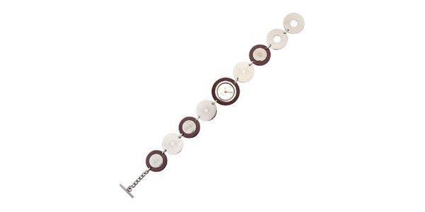 Dámske kruhové náramkové hodinky hnedé Esprit