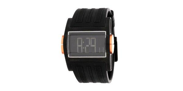 Pánske čierne digitálne hodinky DKNY
