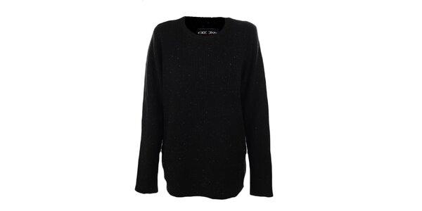 Pánsky čierny sveter s farebnými bodkami Exe Jeans