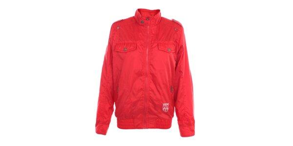 Pánska červená bunda Exe Jeans so stojáčikom