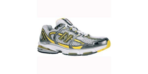 Pánske bielo-žlto-strieborné bežecké topánky New Balance