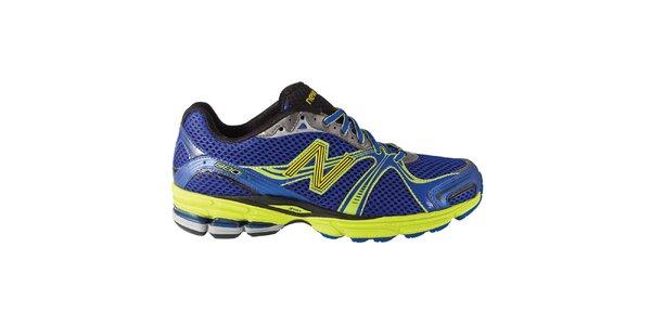 Pánske modro-zelené bežecké topánky New Balance