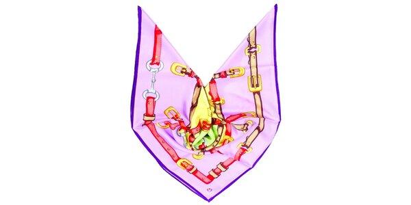 Dámska fialová šatka s potlačou Fraas