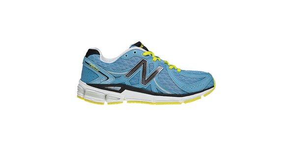 Dámske modré bežecké tenisky so žltými detailmi New Balance
