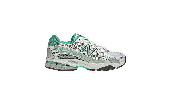 Dámske zeleno-biele bežecké topánky New Balance