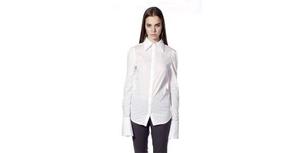 Dámska biela košeľa so širokými manžetami Gene