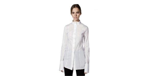 Dámska biela košeľa s dlhým rukávom Gene