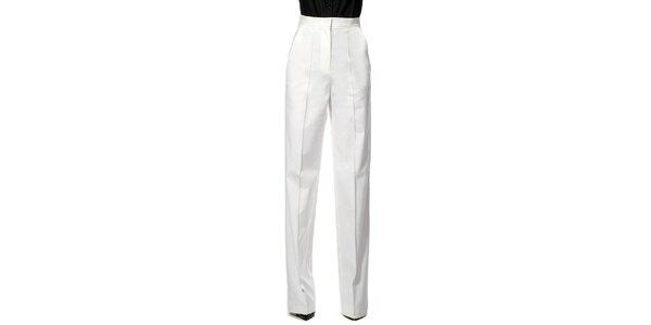 Dámske biele nohavice s pukmi Gene
