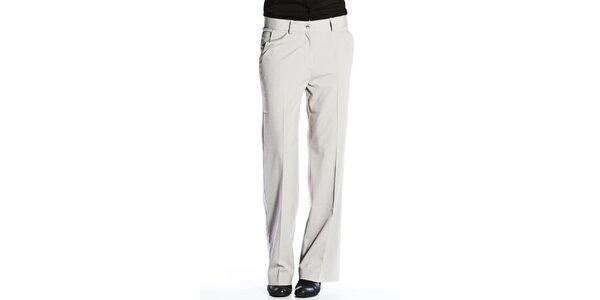 Dámske svetlo šedé nohavice Gene