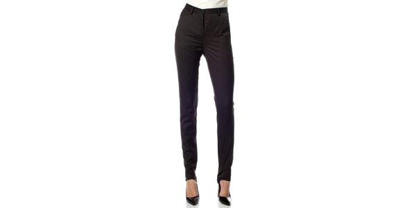 Dámske čierne prúžkované nohavice Gene