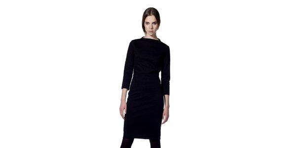 Dámske čierne šaty s 3/4 rukávom Gene